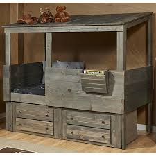 found it at wayfair driftwood hideout twin loft with under bed