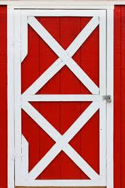Red Barn Door by Baby Portraits Photography Backdrop Newborn Photo Background For