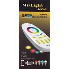 Remote Control Led Light Bulb by Milight Wireless 4 Zone Rgbw Led Light Bulb Remote Control