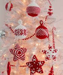 holiday stars and balls ornaments knitting pattern red heart