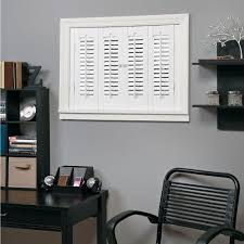 interior shutters home depot homebasics traditional faux wood white interior shutter price