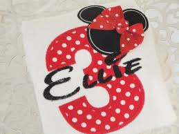 minnie mouse personalized birthday shirt