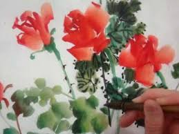 roses china wen s calligraphy tutorial traditional painting