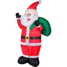 7 airblown waving santa