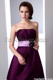 simple short grape satin bridesmaid dresses under 100 1st dress com
