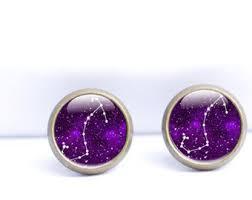 in earrings zodiac earrings etsy