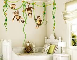 kinderzimmer wandtattoo wandtattoo babyzimmer affen dschungel safari no yk28 affenbande