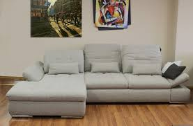 Sleeper Chaise Sofa by Alpine Sectional Sleeper Sofa Left Arm Chaise Facing Beige Brown