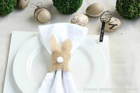 decorating easter place cards and napkin ring ideas walking on