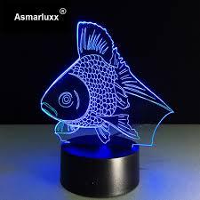 Schlafzimmer Lampe Gold Gold Fisch Geführt Nachtlicht Usb Powered Led Farbwechsel 3d Decor