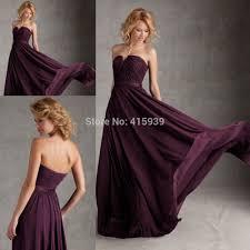 regency purple bridesmaid dresses purple eggplant color chiffon sweetheart cheap