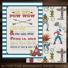 s shower invitations cowboys indians 5x7 baby shower invitation two sided