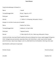 teks prosedur membuat rekening bank surat kuasa lengkap untuk berbagai keperluan seruni id