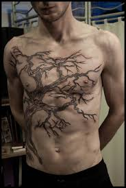 men chest tree of life tree tattoo design idea golfian com