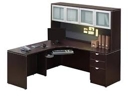 L Shaped Office Desk With Hutch Office Corner Desk With Hutch Designs Ideas And Decors Corner