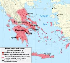 Map Of Ancient Greece by Arch Hades Ancient Greek Art The Mycenaeans