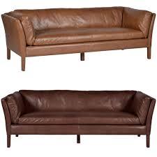 Low Back Leather Sofa Halo Groucho U0027old Saddle Leather U0027 Sofas Armchair And Footstool