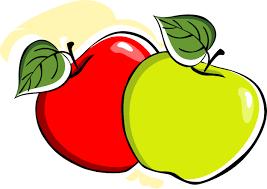 apple cartoon two apple with leafs imgsnap com