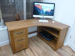 Corner Desk Next Next Hartford Solid Pine 3 Drawer Corner Computer Desk In