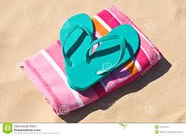 flip flop towel flip flops and towel at the stock images image 15819494