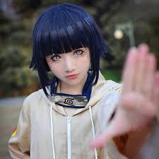 Hinata Halloween Costume Anime Hinata Hyuga Blue Black Mixed Cosplay Wig Halloween Party