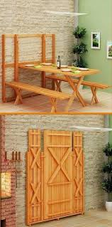 murphy table and benches pallet project fold up picnic table and benches pallets