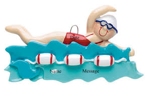 personalized swimming personalized ornaments sports