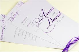 tri fold wedding program templates wedding ceremony programs stationery to design print make your own