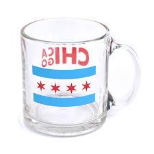 Chicaho Flag Mugs For Meals Chicago Flag Glass Mug U2013 Neighborly