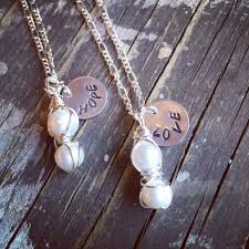 pearl charm necklace images Double pearl charm necklace thechicboatique jpg