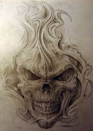 evil skull images skulls and bones