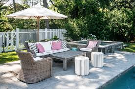 Pink Outdoor Furniture by Black Wicker Patio Furniture With Blue Cushions And Blue Chevron