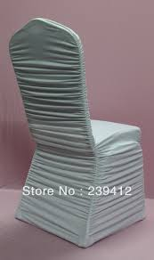 ruffled chair covers 100pcs white ruffled pleated lycra wedding chair cover ruffled