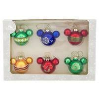disney 3 mickey mouse ornament set of 4 ebay