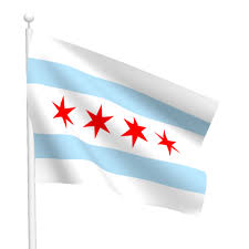 Stars On Chicago Flag City Of Chicago Flag Flags International