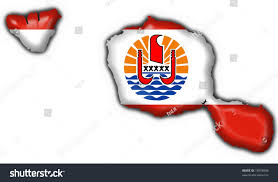 French Polynesia Map French Polynesia Flag Map Shape Tahiti Stock Illustration 19878808