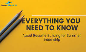 how to build a good resume for mba summer internship