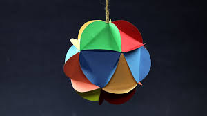 diy christmas decorations multi colored hanging paper ball