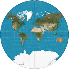 the van der grinten projection is a compromise map projection that