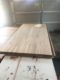 made a custom butcher block pipe desk album on imgur fresh from lumber liquidators
