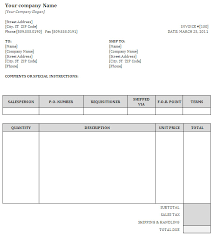 34 generic invoice template word generic invoice template free