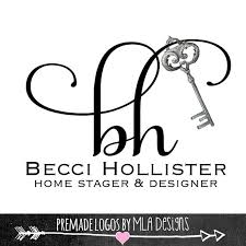 Home Decoration Logo Home Boutique Logo Premade Name Logo Home Decor Logo