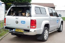 volkswagen tdi truck vw amarok performs animal magic as rspca celebrates a year at the