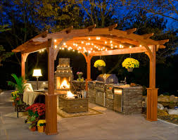 kitchen exterior arched wooden patio canopy for outdoor kitchen