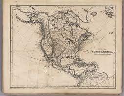 Physical Map Of North America by Physical Map Of North America David Rumsey Historical Map Collection