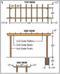 How To Build A Simple Pergola by Pergola Plans With Hammock For The Home Pinterest Pergola