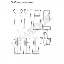 simplicity 6095 women u0027s dress sewing pattern