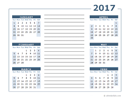 blank two page calendar template 2017 free printable templates