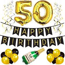 50th birthday party supplies 50th birthday party pack black gold happy birthday