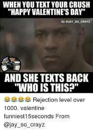 Funny Valentines Meme - when you text your crush happy valentine s day ig so crayz meme